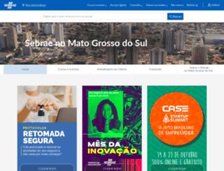 ms.sebrae.com.br screenshot