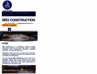 ms3construction.co.za screenshot