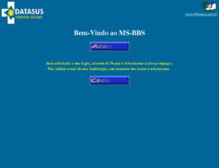 msbbs.datasus.gov.br screenshot