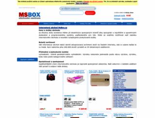 msbox.cz screenshot