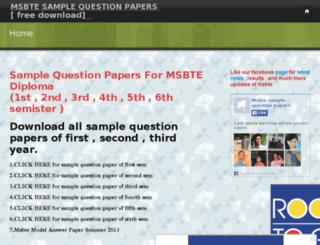 msbtesamplequestionpaper.webs.com screenshot