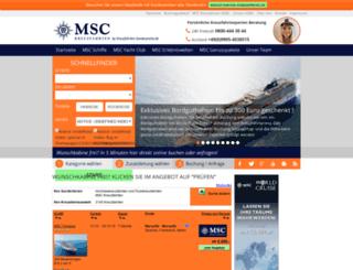 msc-sonderpreise.de screenshot
