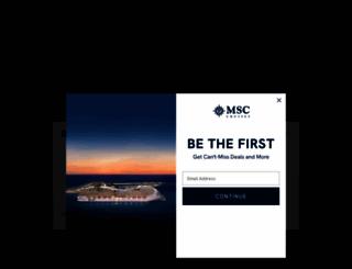 msccruises.com screenshot