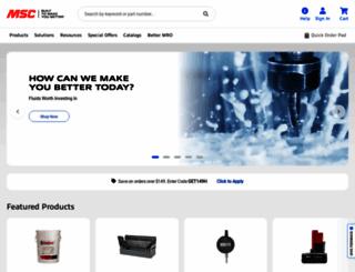 mscdirect.com screenshot