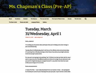 mschapmansclass.wordpress.com screenshot