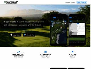 mscorecard.com screenshot