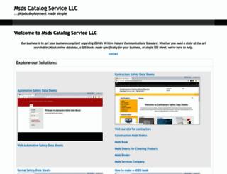 msdscatalogservice.com screenshot
