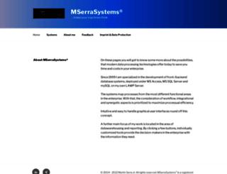 mserrasystems.eu screenshot
