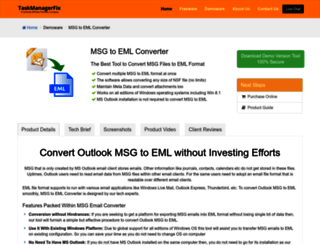 msg-to-eml.taskmanagerfix.com screenshot