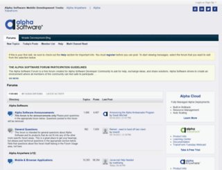 msgboard.alphasoftware.com screenshot