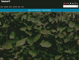 mshop.timberland.com screenshot