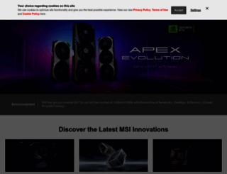 msi.com screenshot