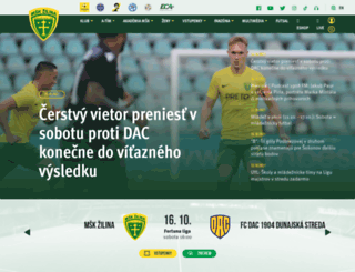 mskzilina.sk screenshot