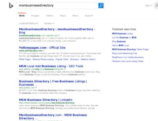 msnbusinessdirectory.com screenshot