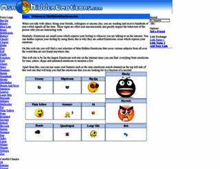 msnhiddenemoticons.com screenshot
