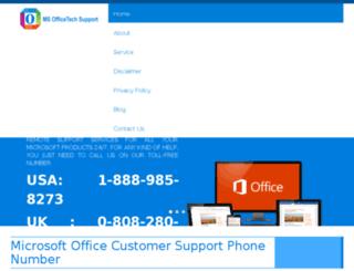 msofficetechsupport.com screenshot