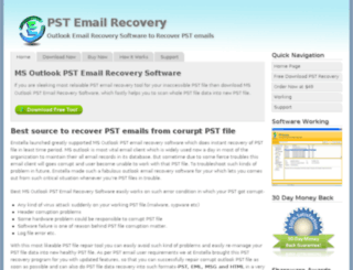 msoutlook.pstemailrecovery.org screenshot