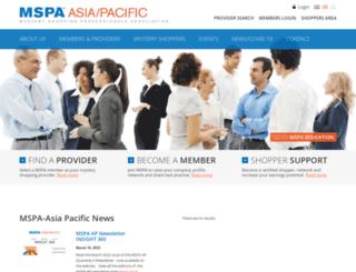 mspa-ap.org screenshot