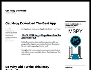 mspydownload.net screenshot