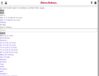 mstage.hannaandersson.com screenshot