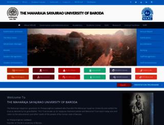 msubaroda.ac.in screenshot