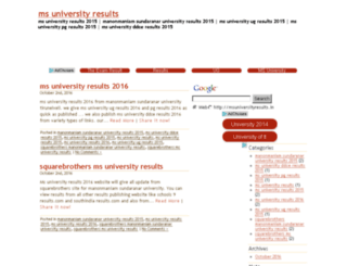msuniversityresults.in screenshot