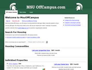 msuoffcampus.com screenshot