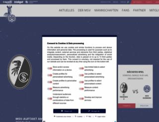 msv-duisburg.de screenshot