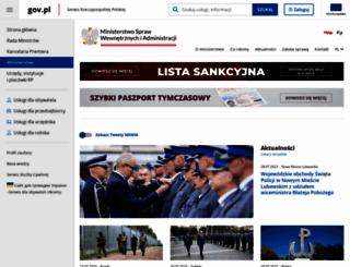 msw.gov.pl screenshot
