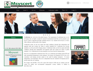 msyscert.co.in screenshot