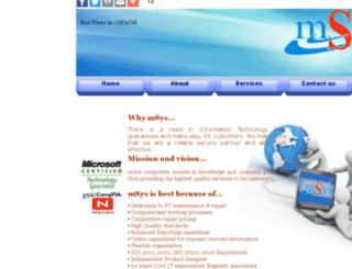 msyscomputers.com screenshot