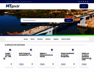 mt.gov.br screenshot