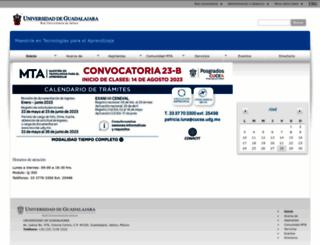 mta.udg.mx screenshot