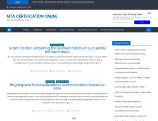mtacertification.com screenshot
