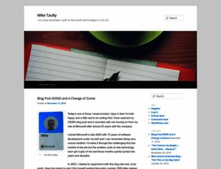 mtaulty.com screenshot