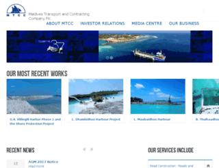 mtcc.com.mv screenshot