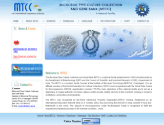 mtcc.imtech.res.in screenshot