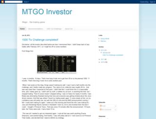 mtgoinvestor.blogspot.com screenshot