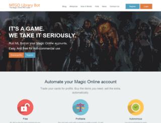 mtgolibrary.com screenshot