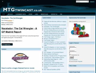 mtgtwincast.co.uk screenshot