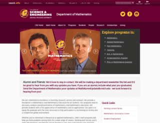 mth.cmich.edu screenshot