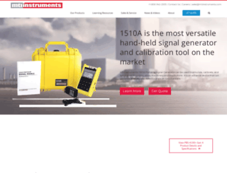 mtiinstruments.com screenshot