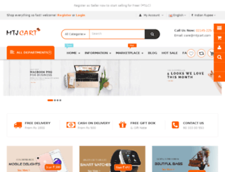 mtjcart.com screenshot