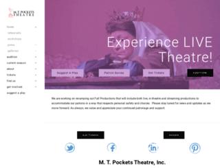 mtpocketstheatre.com screenshot