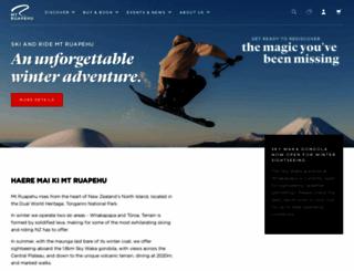 mtruapehu.com screenshot