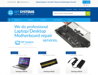 mtsystems.ca screenshot