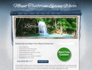 mttamborinespringwater.com.au screenshot