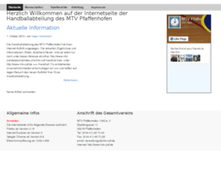 mtv-paf-handball.de screenshot