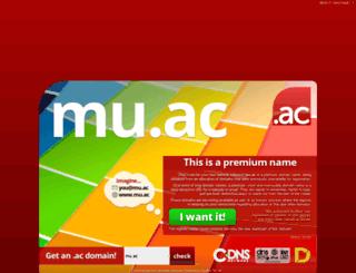 mu.ac screenshot