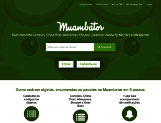 muambator.com.br screenshot